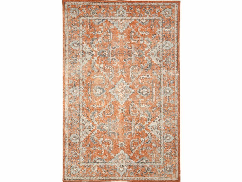 Handmade wool rug CONCORD PKWL-5106 Velvet Red/Ink Blue by Jaipur Rugs
