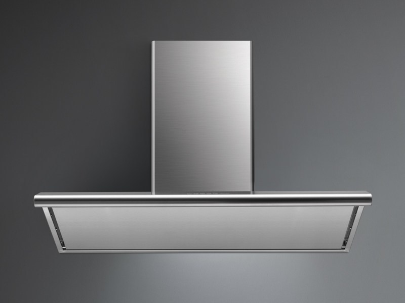 Wall-mounted stainless steel cooker hood with activated carbon filters CONCORDE by Falmec