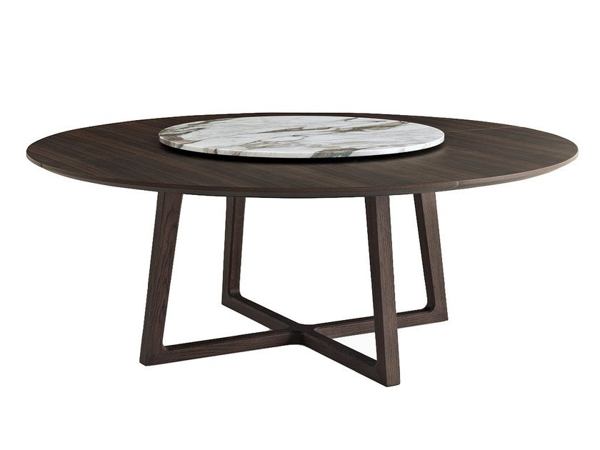 Round solid wood table CONCORDE | Round table by poliform
