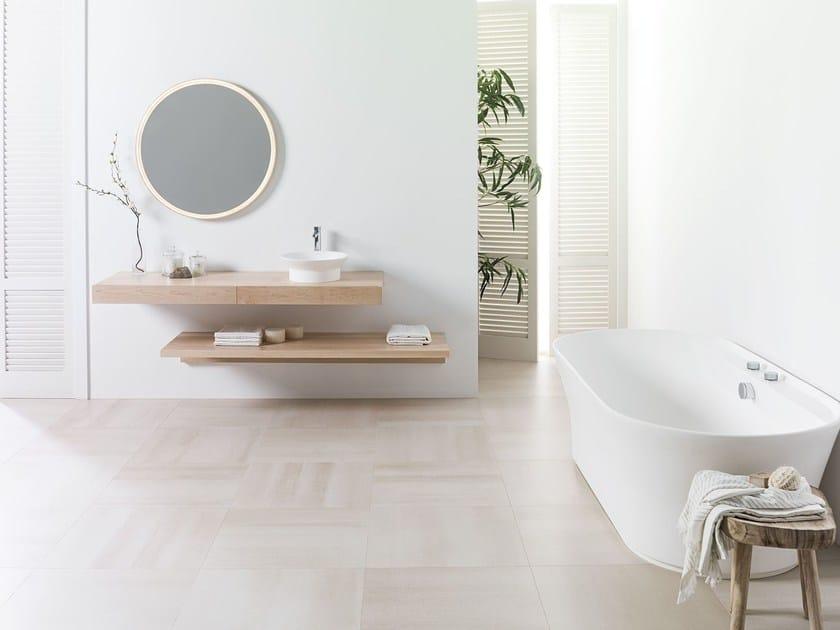 Porcelain stoneware wall/floor tiles CONCRETE BEIGE by URBATEK