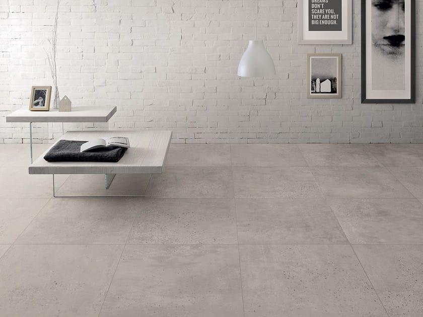 Pavimento in gres porcellanato effetto cemento concrete collezione