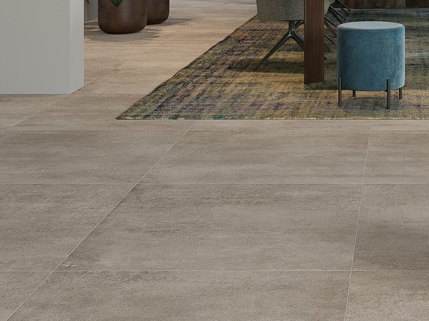 Porcelain stoneware wall/floor tiles with concrete effect CONCRETO LIGHT by LEA CERAMICHE
