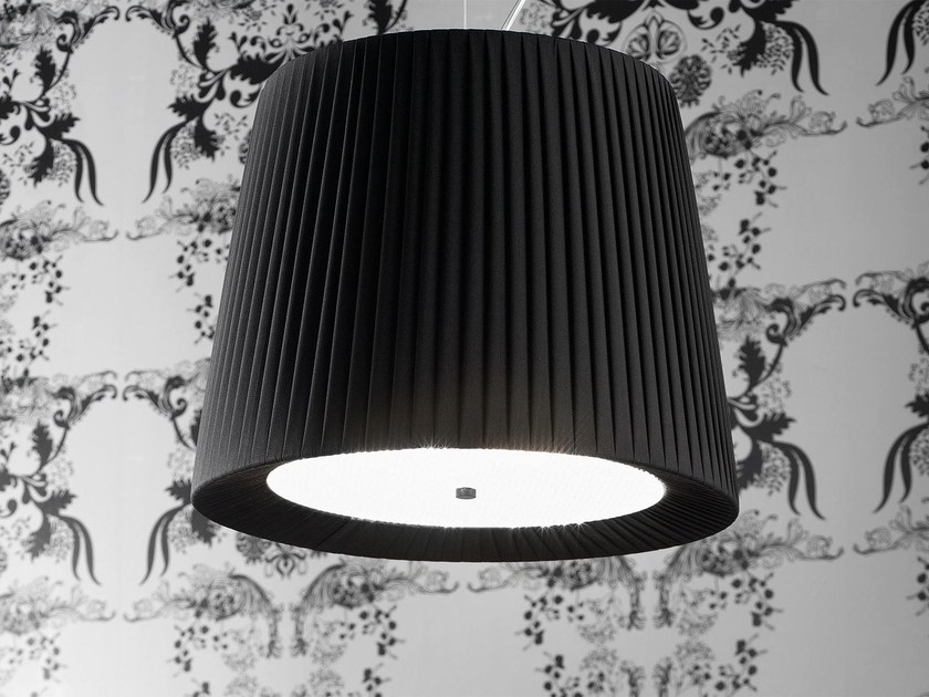 Direct light fabric pendant lamp CONE   Pendant lamp by Masiero
