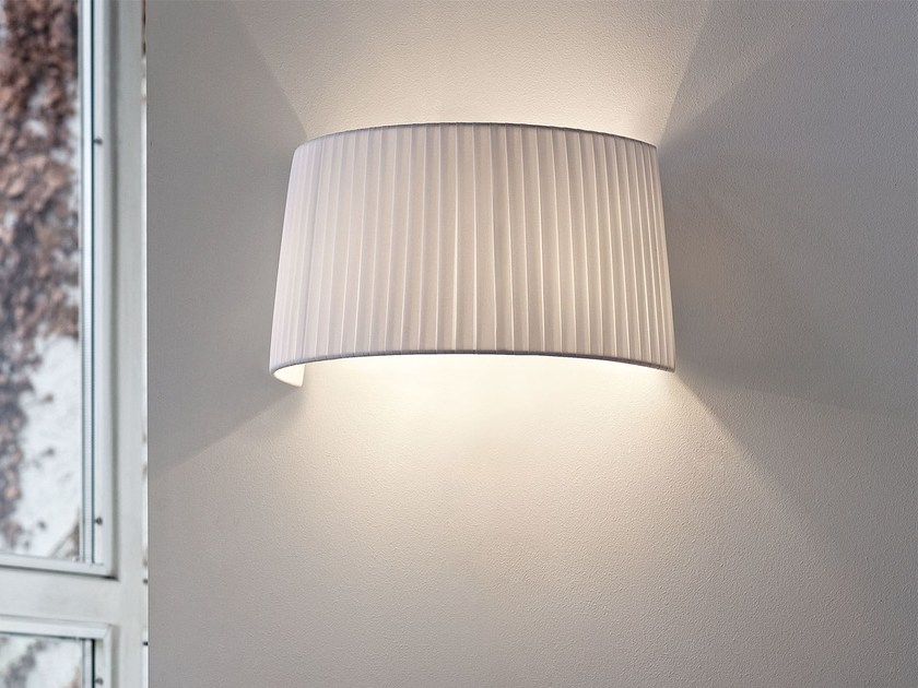 Direct-indirect light fabric wall lamp CONE   Wall lamp by Masiero