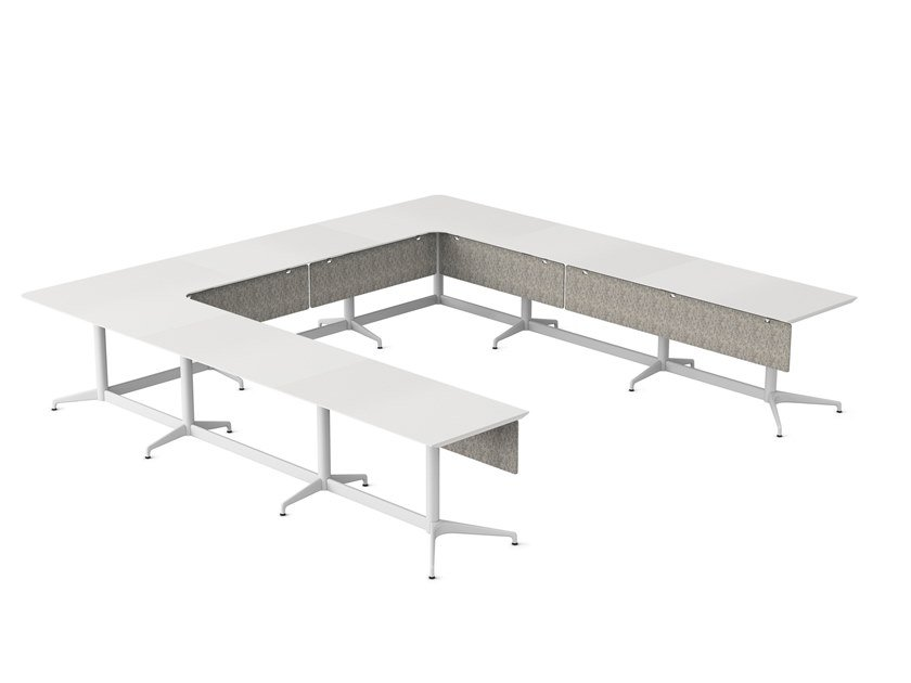 Modular meeting table with cable management CIVIC | Meeting table by Herman Miller