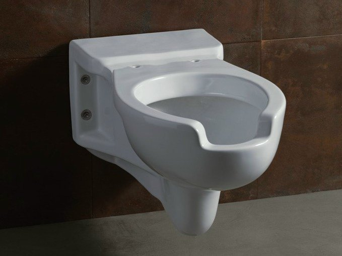 Wall-hung ceramic toilet CONFORT 76 by Alice Ceramica