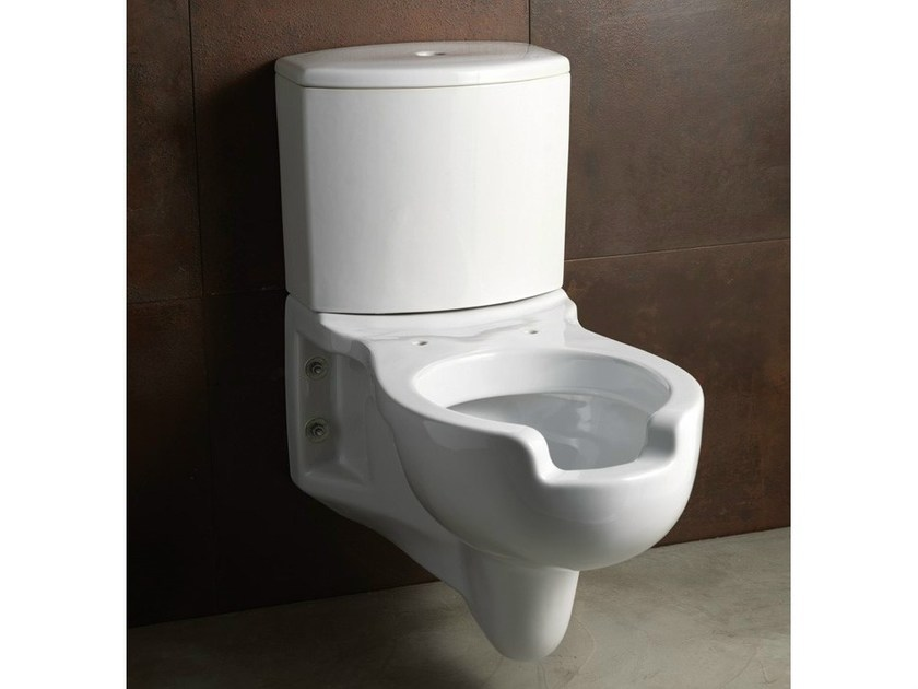 Close coupled wall-hung ceramic toilet CONFORT | Wall-hung toilet by Alice Ceramica