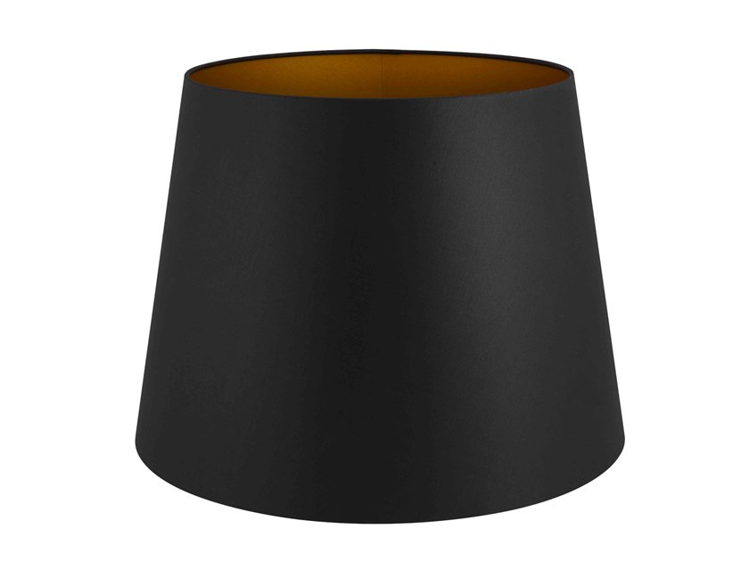 Fabric lampshade CONICAL BLACK & GOLDEN | Lampshade by Vista Alegre
