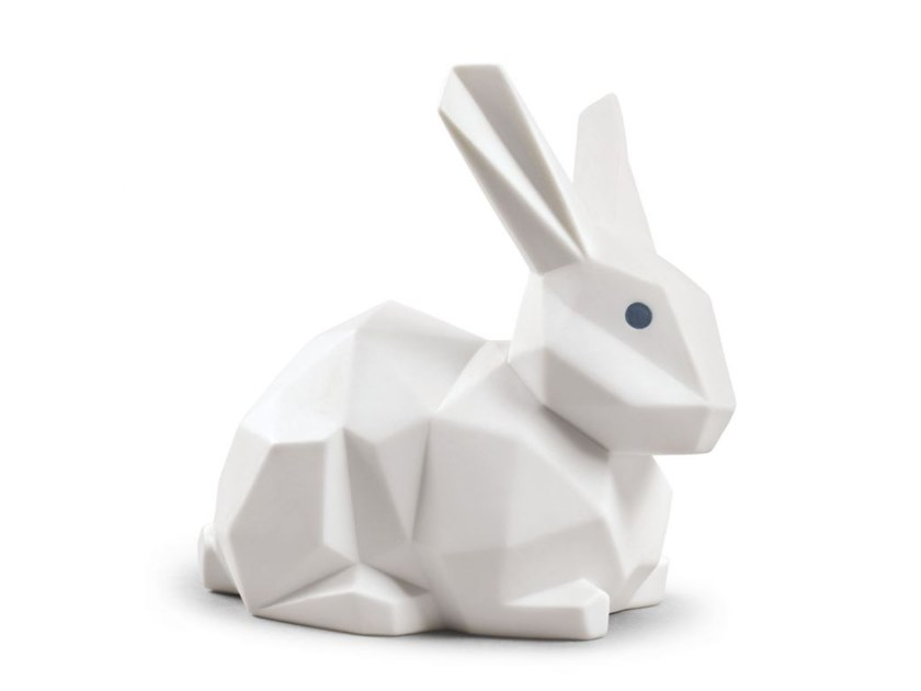 Porcelain decorative object RABBIT WHITE MATTE by Lladró