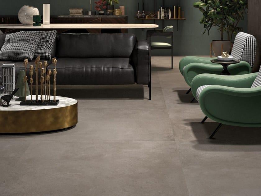 Pavimento/rivestimento in gres porcellanato a tutta massa effetto cemento CONKRETA&MUKKA CE by LaFaenza
