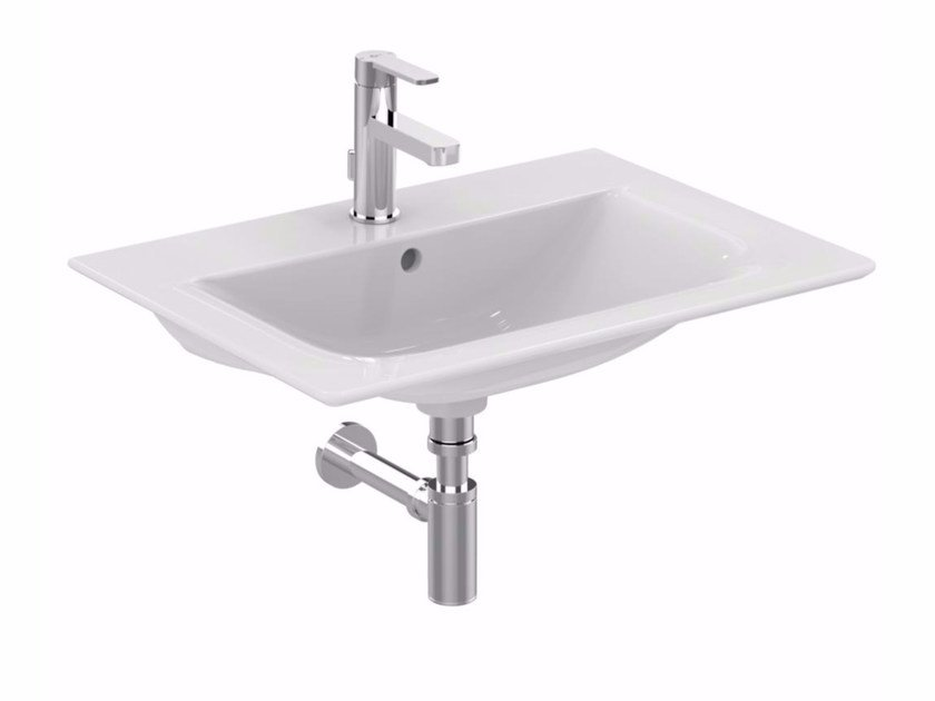 Lavabo da incasso soprapiano rettangolare in ceramica CONNECT AIR - 60 cm by Ideal Standard