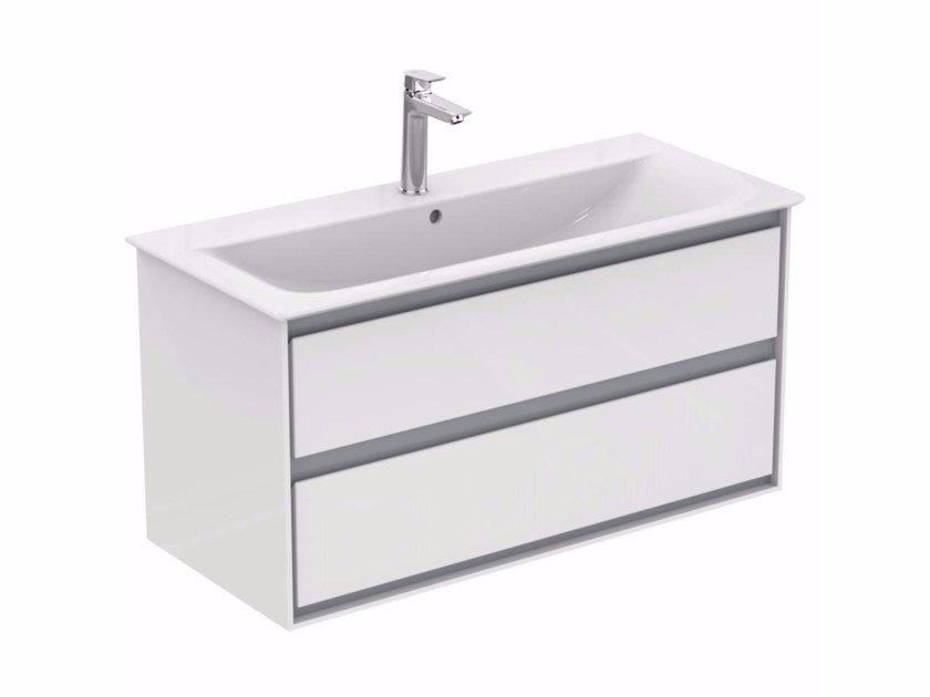 Mobile lavabo laccato sospeso con cassetti CONNECT AIR - E0821 by Ideal Standard