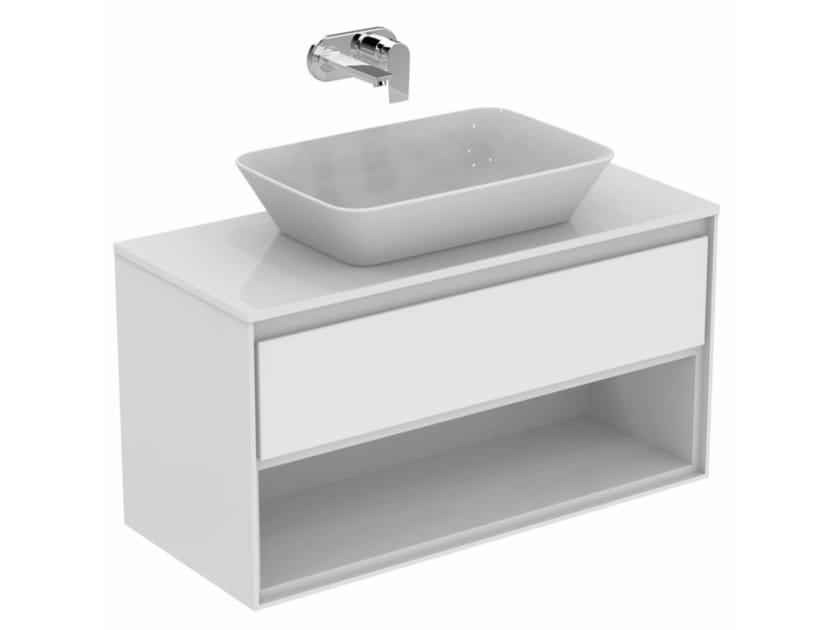 Mobile lavabo laccato con cassetti CONNECT AIR - E0828 by Ideal Standard