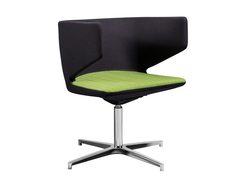 Chair with 4-spoke base with armrests CONNECTICUT | Chair with 4-spoke base by AP Factor