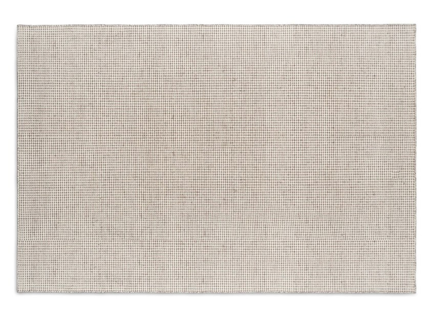 Solid-color rectangular wool rug CONRAD by Calligaris