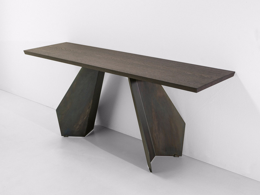 Rectangular wooden console table ORIGAMI | Console table by Bonaldo