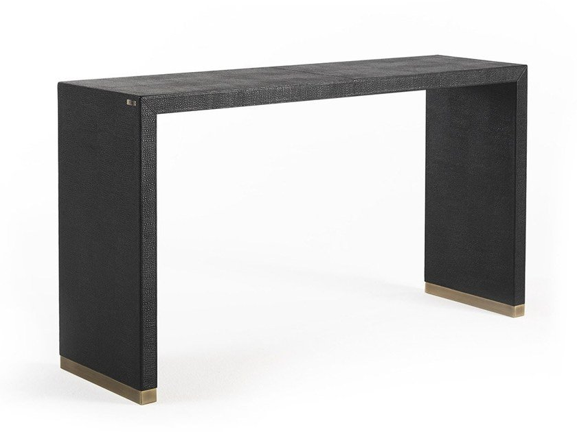Rectangular leather console table KAY | Console table by Gianfranco Ferré Home
