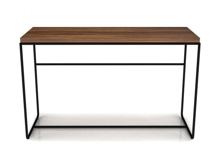Rectangular walnut console table LINEA | Console table by Huppé