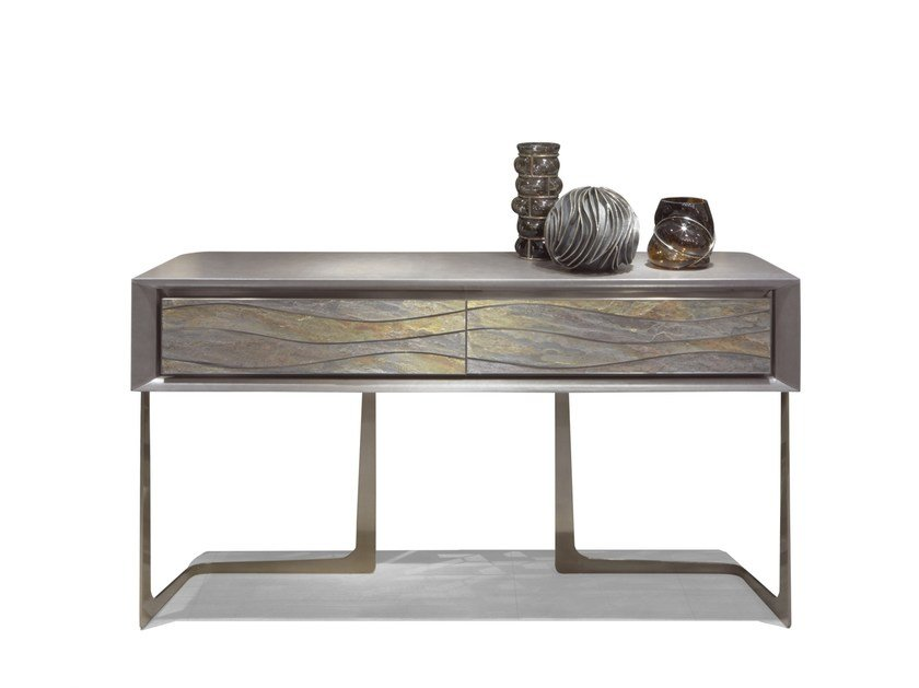 Rectangular metal console table with drawers AZIMUT | Console table by Visionnaire