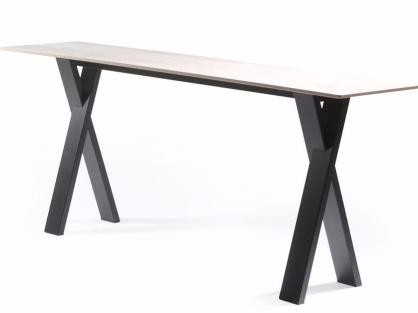 Rectangular Xeramica console table CROSS | Console table by Joli