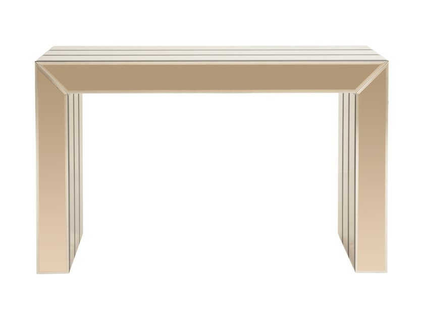 Rectangular mirrored glass console table JUSTUS | Console table by Stylish Club