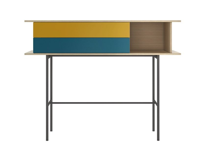 Rectangular console table with drawers 7FOR | Console table by SCULPTURES JEUX