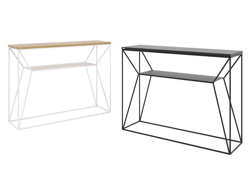 Rectangular steel and wood console table MAXIMO | Console table by take me HOME