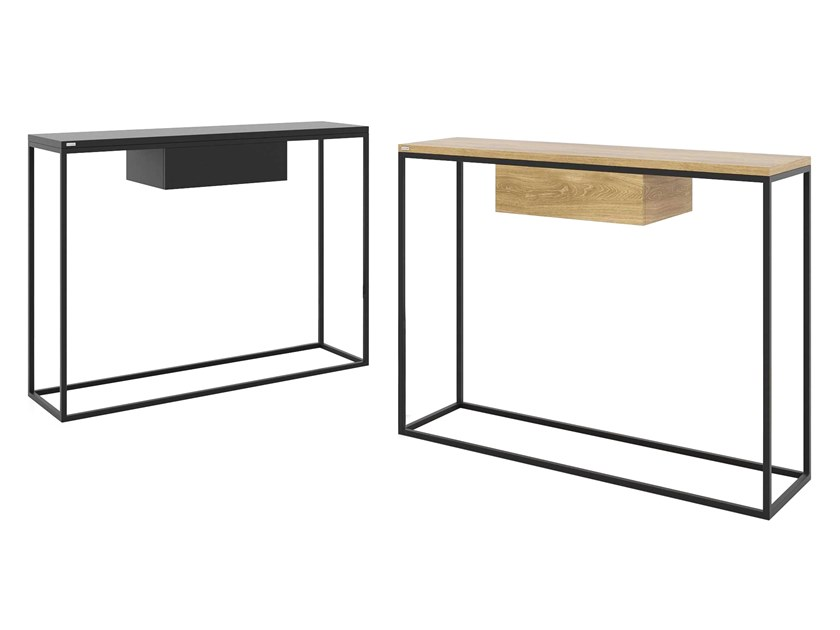 Rectangular steel and wood console table with drawers SKINNY | Console table with drawers by take me HOME