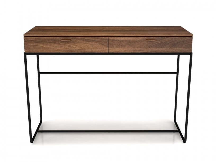 Rectangular walnut console table with drawers LINEA | Console table with drawers by Huppé