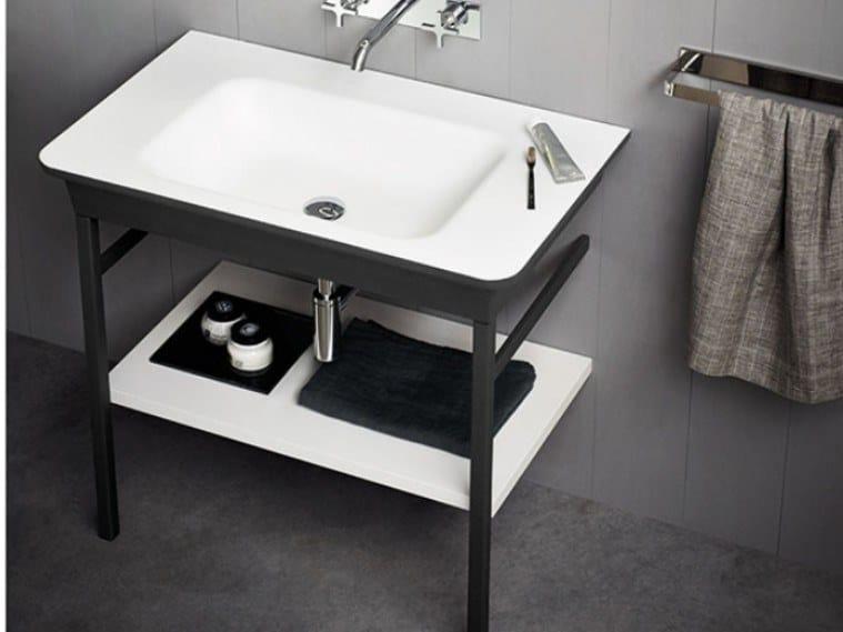 Console rectangular Cristalplant® washbasin NOVECENTO XL   Console washbasin by Agape