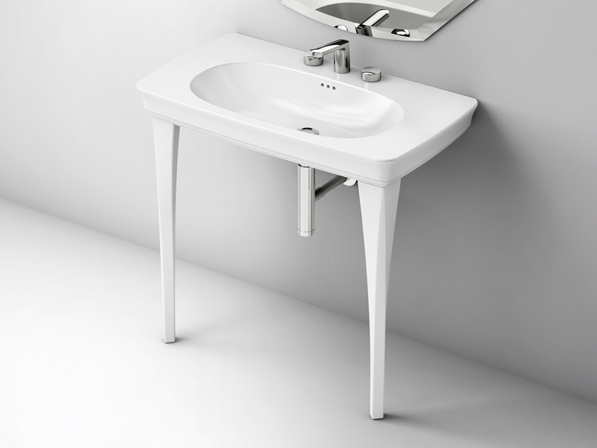 Console ceramic washbasin CIVITAS | Console washbasin by Artceram
