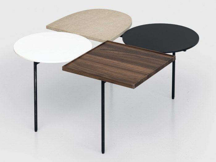 Lacquered square coffee table CONSTELLATION | Square coffee table by Kristalia
