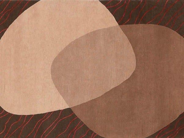 Handmade rectangular rug CONTACT by Deirdre Dyson