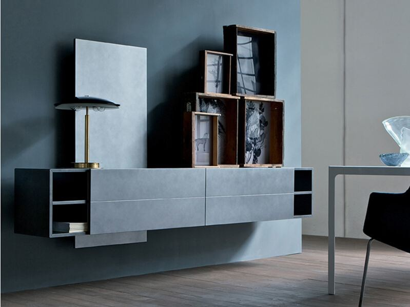 Lacquered suspended sideboard with drawers CONTATTO | Sideboard by ESTEL GROUP