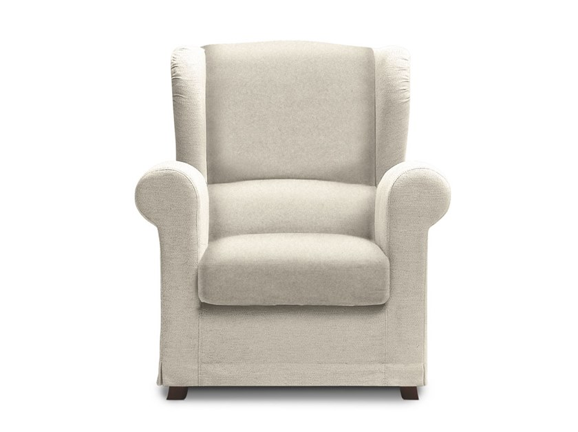Bergere fabric armchair with armrests CONTEA by Felis