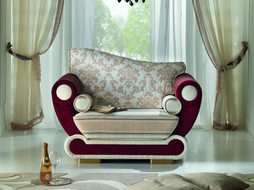 Fabric armchair with armrests CONTEMPORARY | Armchair with armrests by Modenese Gastone