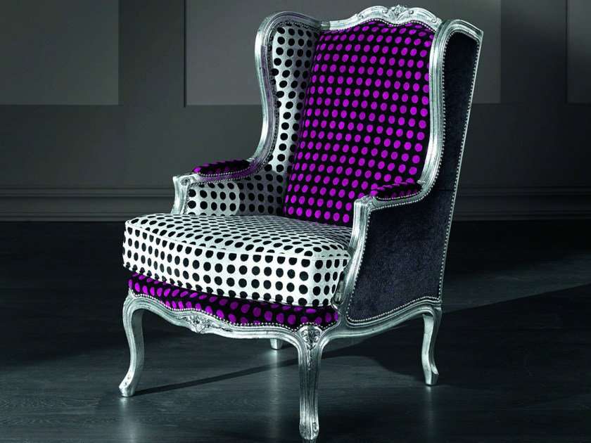 Fabric armchair with armrests CONTEMPORARY | Fabric armchair by Modenese Gastone