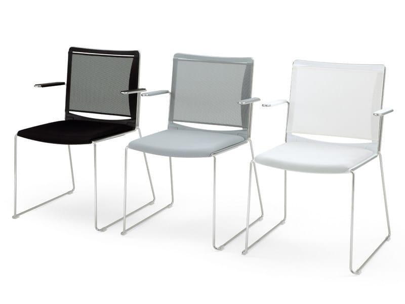 S'MESH SOFT | Sedia con braccioli