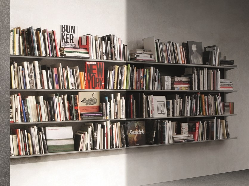 Open modular floating bookcase CONTINUA | Floating bookcase by Pallucco