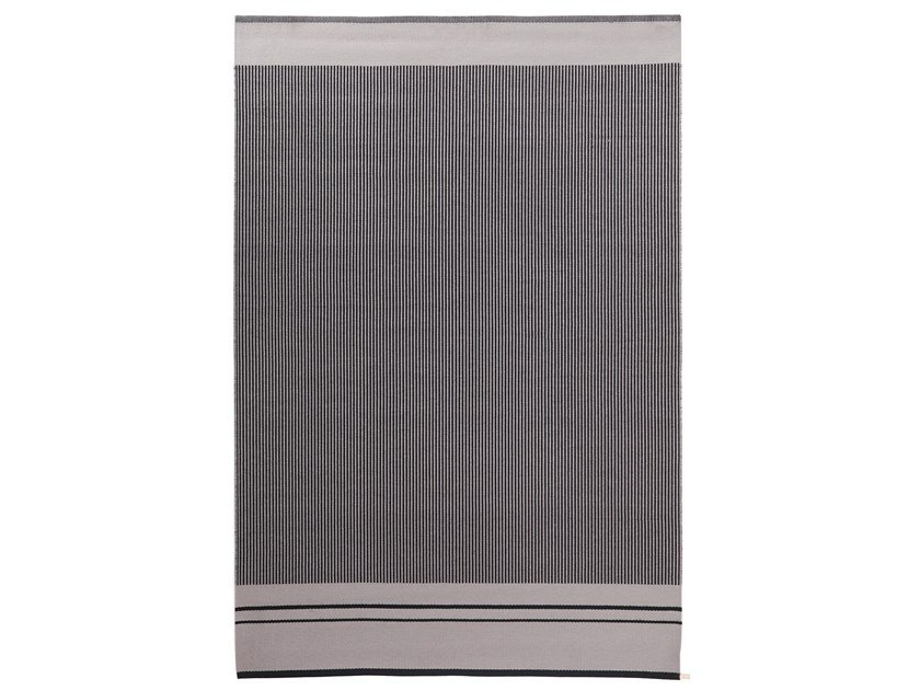 Rectangular striped fabric rug CONTINUO by Porro