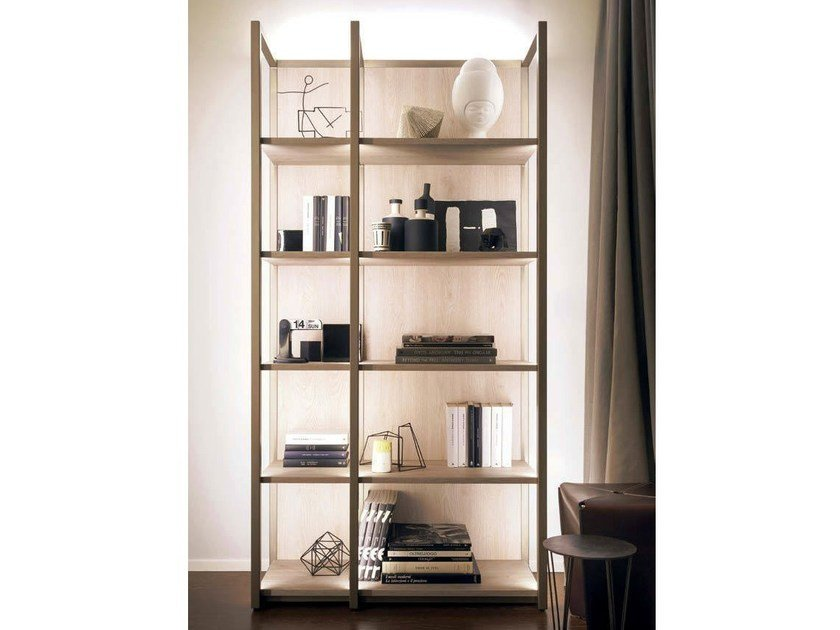 Bookcase with built-in lights CONTINUUM | Bookcase by Natevo