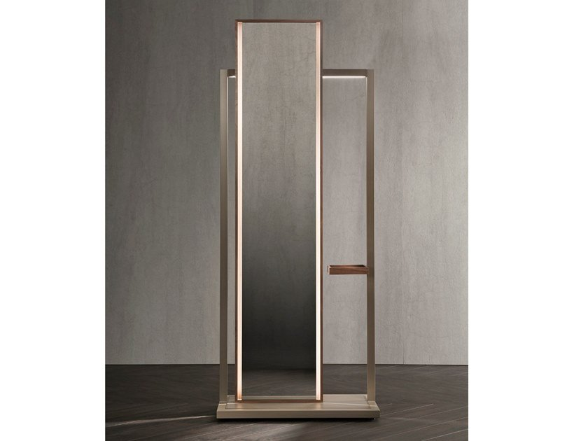 Steel mirror / valet stand CONTINUUM | Valet stand by Natevo