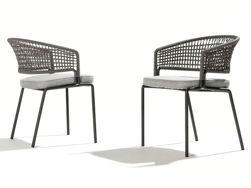 Garden chair with armrests CTR | Chair by TRIBÙ