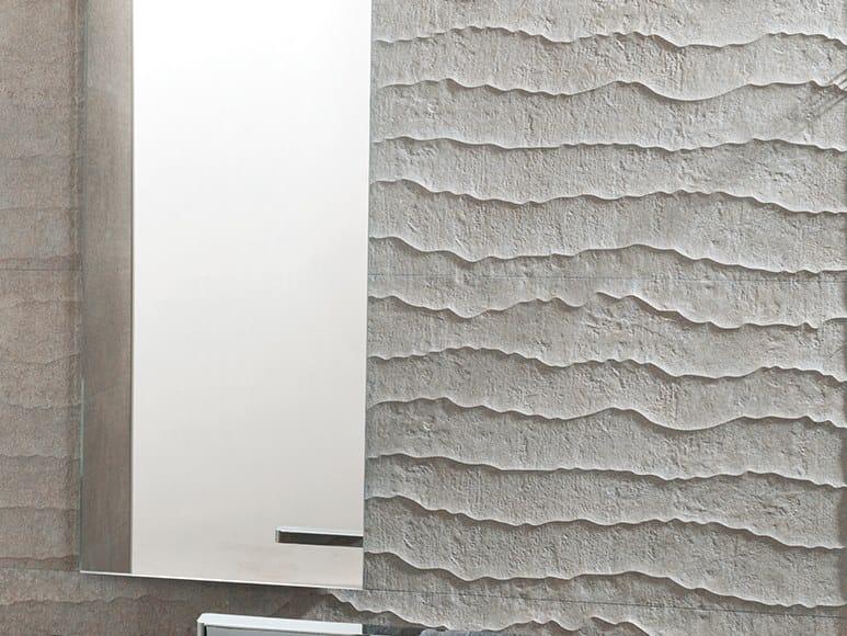 3D Wall Cladding with concrete effect CONTOUR NATURAL by Venis
