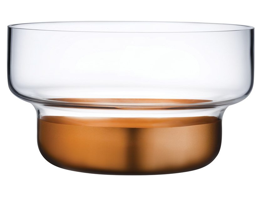 Small Bowl with Clear Top and Copper Base CONTOUR SMALL | Crystal serving bowl by NUDE