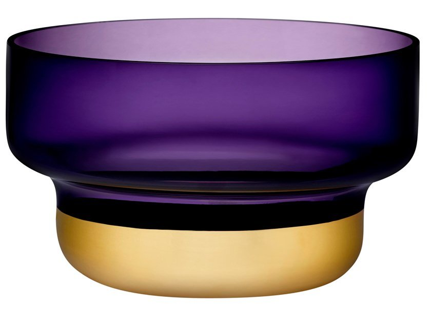 Small Bowl with Purple Top and Golden Base CONTOUR SMALL | Serving bowl by NUDE