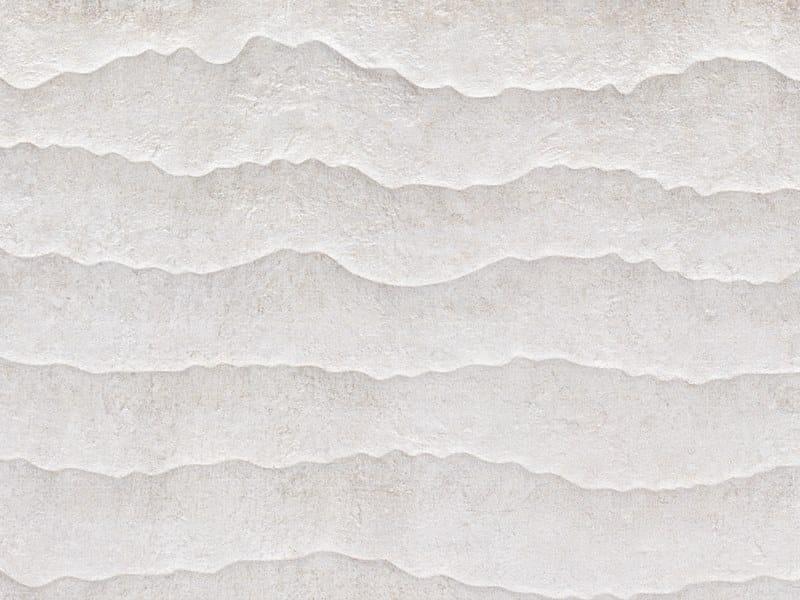 3D Wall Cladding with concrete effect CONTOUR WHITE by Venis