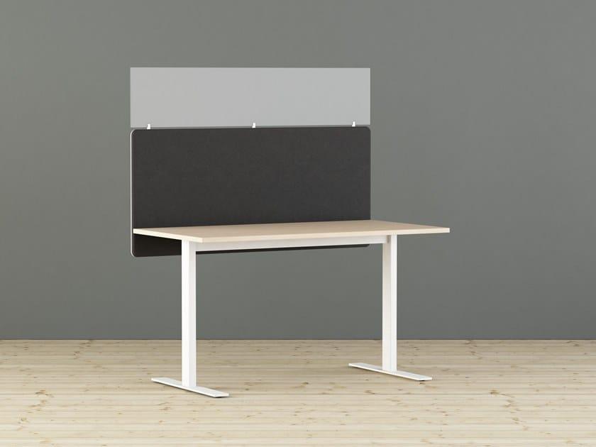 Sound absorbing workstation screen desktop partition CONTRAST | Workstation screen desktop partition by Glimakra of Sweden