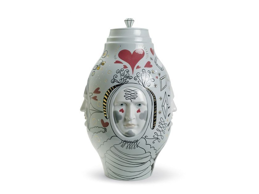 Porcelain vase CONVERSATION Ltd. Edition by Lladró