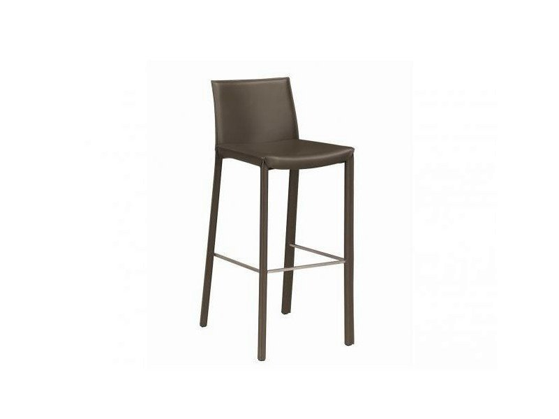 Leather chair with footrest CONVIVE by GAUTIER FRANCE